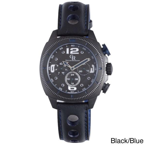 Giulio Romano Men's Pescara Black Leather Watch