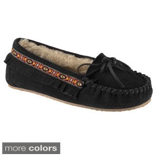 Lugz Women's 'Ohm' Slip-on Suede Moccasin Fringe Shoes