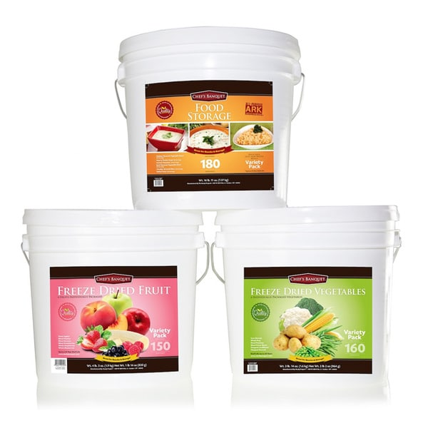 Chef's Banquet 490-serving Combination Food Storage Kit