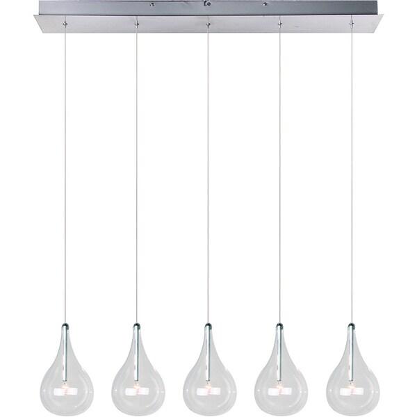 Larmes 5-light Polished Chrome Linear Pendant