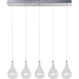 Larmes 5-light Polished Chrome Linear Pendant