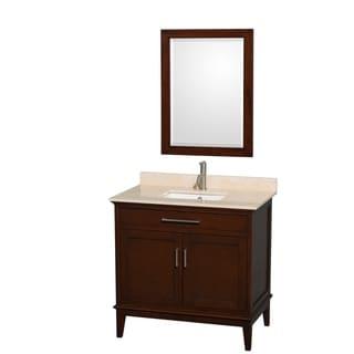 Wyndham Collection Hatton 36-inch Single Sink Dark Chesnut Vanity