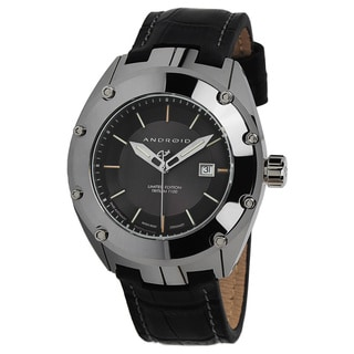 Android Men's 'Virtuoso' Black T-100 Swiss Automatic Watch