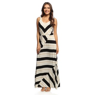 Chelsea & Theodore Women's Tri-colored Chevron Print Dress