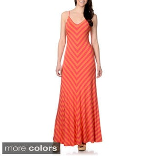 Chelsea & Theodore Women's Chevron Print Maxi Dress