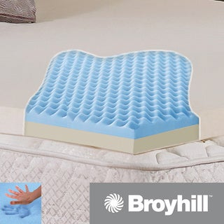 Broyhill Classic Dual-layer 2-inch Gel Memory Foam Mattress Topper with Washable Cover