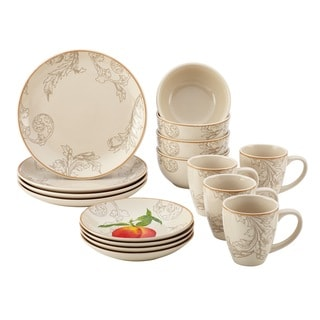 BonJour Orchard Harvest 16-piece Stoneware Dinnerware Set