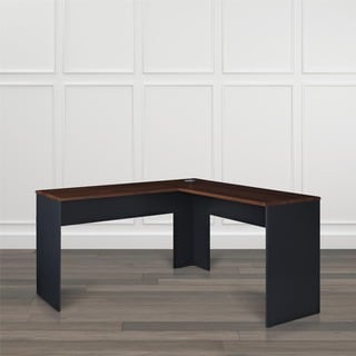 The Works Contemporary Two-tone Finish L-shaped Desk