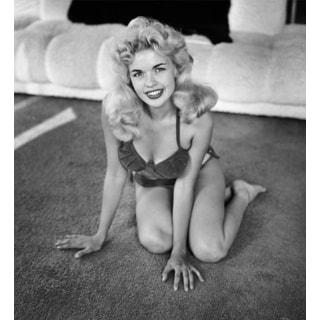 Playful Jayne Mansfield 1954 Frank Worth Lithograph