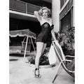 Marilyn Monroe Standing Poolside 1949 Frank Worth Lithograph