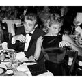 James Dean and Ursula Andress at Oscar Dinner 1955 Frank Worth Lithograph