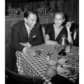 Frank Sinatra and Lauren Bacall at Musso and Frank Grill Hollywood 1957 Frank Worth Lithograph