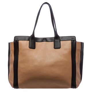 Chloe 'Alison' Sandshell and Black Leather East/ West Tote