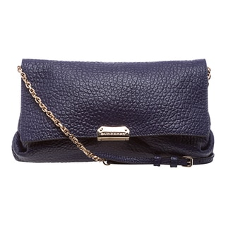 Burberry 'Mildenhall' Medium Regency Blue Leather Heritage Clutch