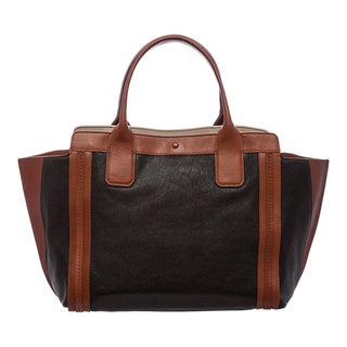 Chloe 'Alison' Small Black and Tan Leather East/ West Tote