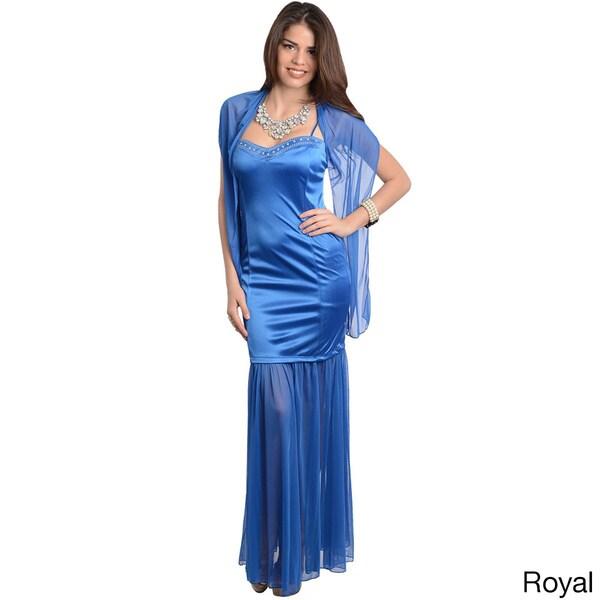 Shop The Trends Women's Spaghetti Strap Long Dress