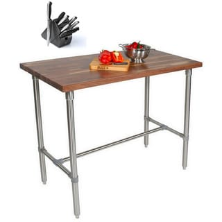 John Boos Walnut Cucina Americana Classico 36x24x48 Table and Bonus Cutting Board