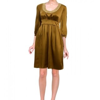 Cynthia Rowley Women's Contemporary Silk 3/4-length Sleeve Cocktail Dress