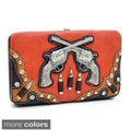 Western 'Guns N' Bullets' Studded Frame Wallet