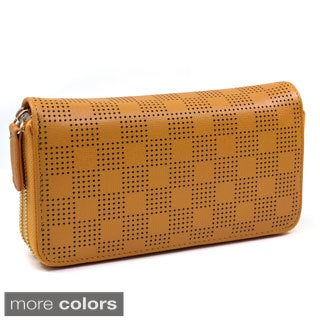 'Isabelle' Checkered Cut-out Wallet