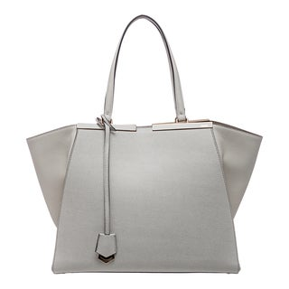 Fendi '3Jours' Powder Leather Shopping Tote