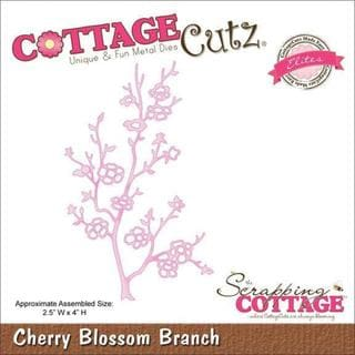 CottageCutz Elites Die 2.5 X4 - Cherry Blossom Branch