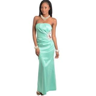 Feellib Women's Stone Embellished Long Dress