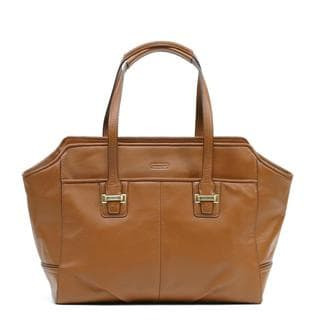 Coach 'Taylor Alexis' Saddle Leather Carryall Bag
