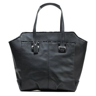 Coach 'Taylor' Black Leather North/ South Tote