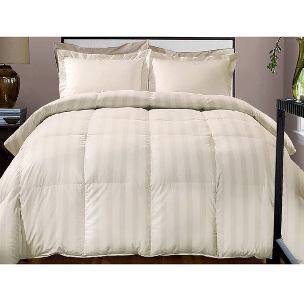 hotel grand damask stripe 800 thread count cotton rich down alternative comforter 16095321. Black Bedroom Furniture Sets. Home Design Ideas