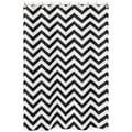 Sweet Jojo Designs Black/ White Chevron Zigzag Shower Curtain