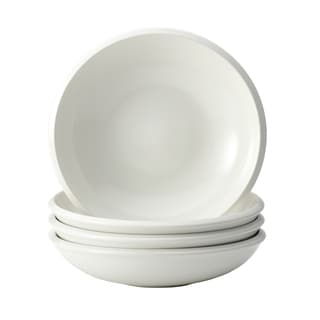 Rachael Ray Dinnerware 'Rise' 4-piece White Stoneware Soup and Pasta Bowl Set