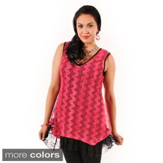 Women's Knit Fringe Sleeveless Top