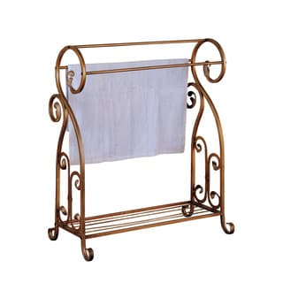 Accent Antique Gold Towel Rack