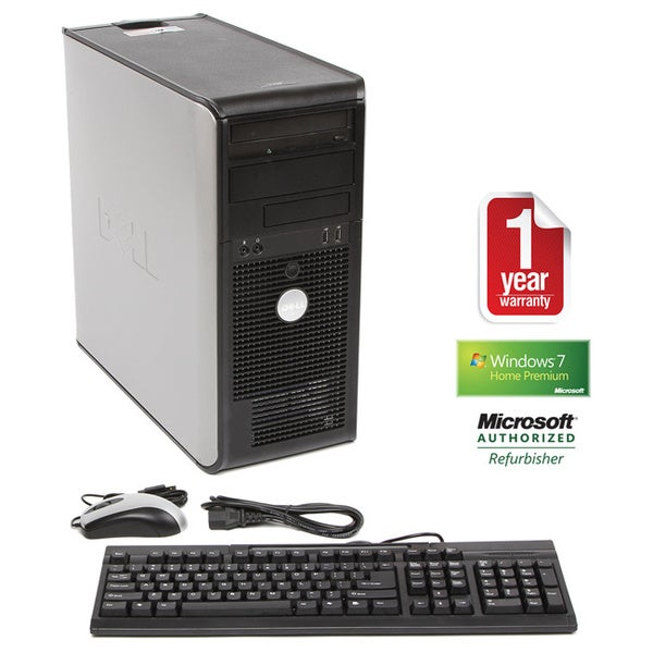 Dell OptiPlex GX520 Pentium 4 3.0GHz 2048MB 160GB DVD Win 7 Home Premium Minitower Computer (Refurbished)