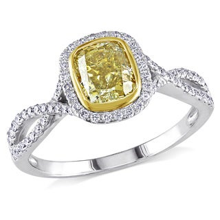 Miadora 14k Gold 1 1/3ct TDW Yellow Diamond Ring (G-H, SI1-SI2)