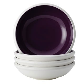 Rachael Ray Dinnerware 'Rise' 4-piece Purple Stoneware Fruit Bowl Ser