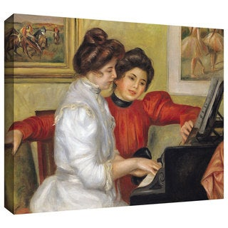 Pierre Renoir 'Yvonne and Christine Lerolle at the Piano' Gallery-Wrapped Canvas