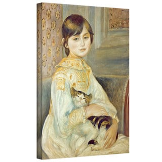 Pierre Renoir 'Julie Manet with Cat' Gallery-wrapped Canvas