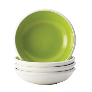 Rachael Ray Dinnerware Rise 4-piece Stoneware Green Fruit Bowl Set