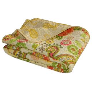 Sunset Paisley Quilted Throw Blanket