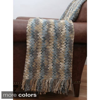 Brandon Woven Zigzag Throw Blanket