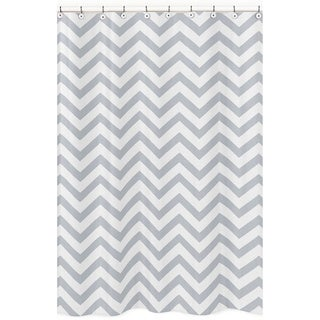 Sweet Jojo Designs Grey/ White Chevron Zigzag Shower Curtain