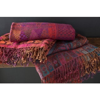 Rio Damask 55x80-inch Wool Throw