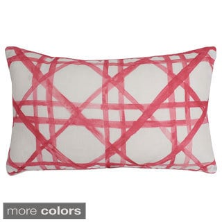 12x20-inch Rectangular Watercolor Cane Feather Fill Throw Pillow