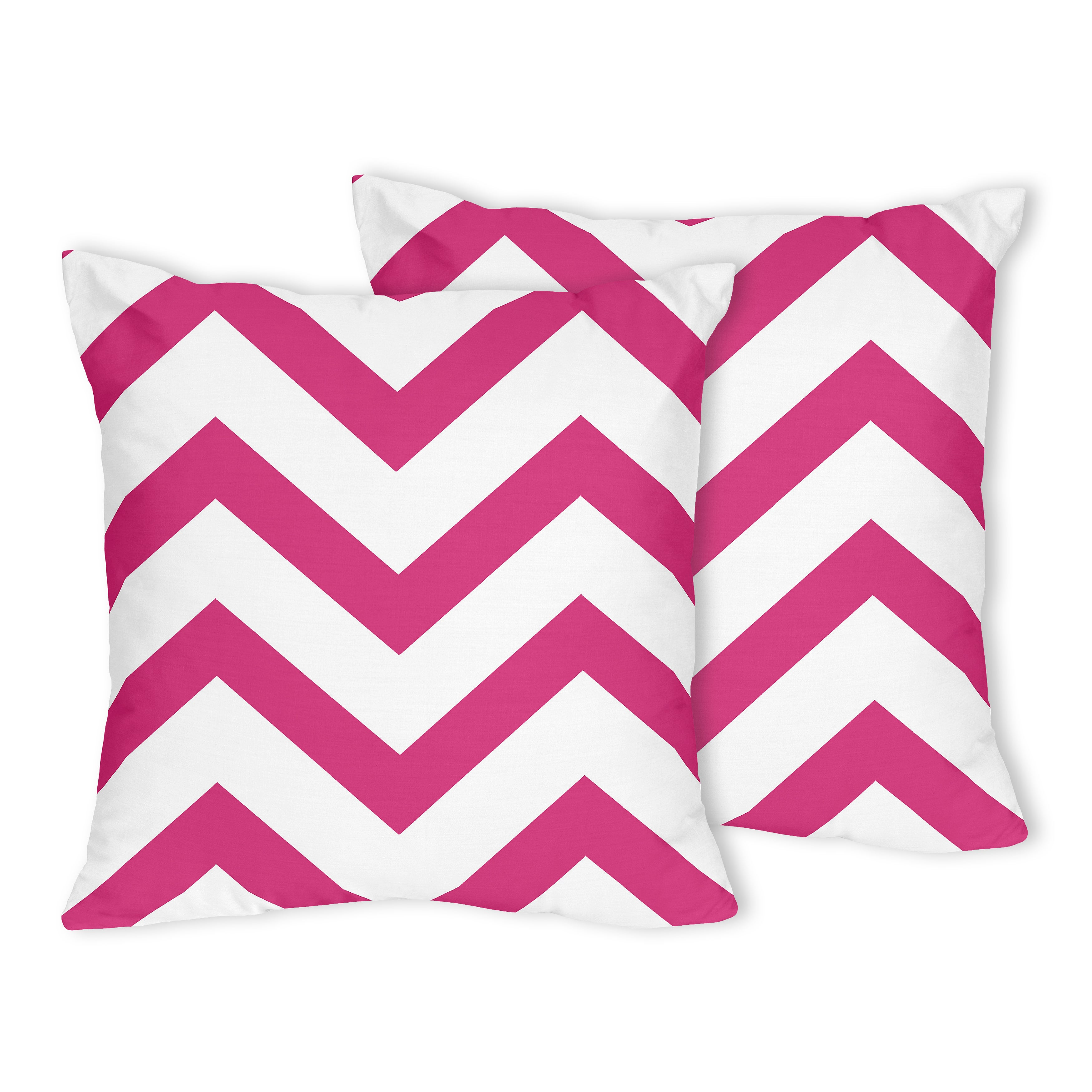 Hot pink bed throw