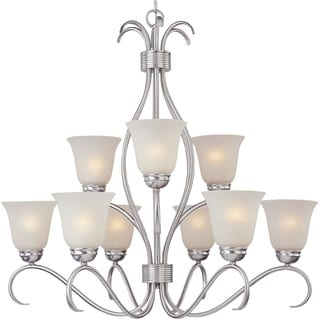 Basix EE 9-light Satin Nickel Chandelier