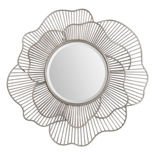 Renwil Brocade Antique Silver Leaf Mirror