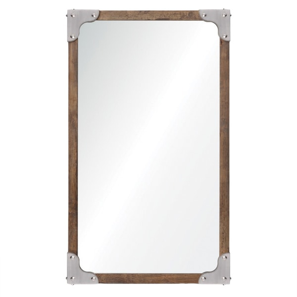 Renwil Advocate Satin Nickel Mirror