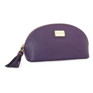 Morelle Miriam Purple Leather Cosmetic Bag